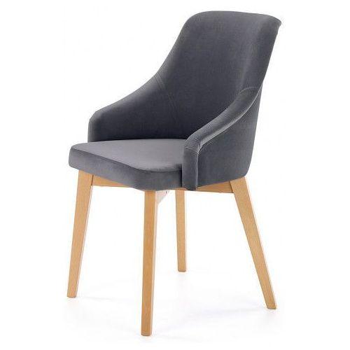 Krzesło drewniane altex 2x - grafit + dąb miodowy marki Elior.pl