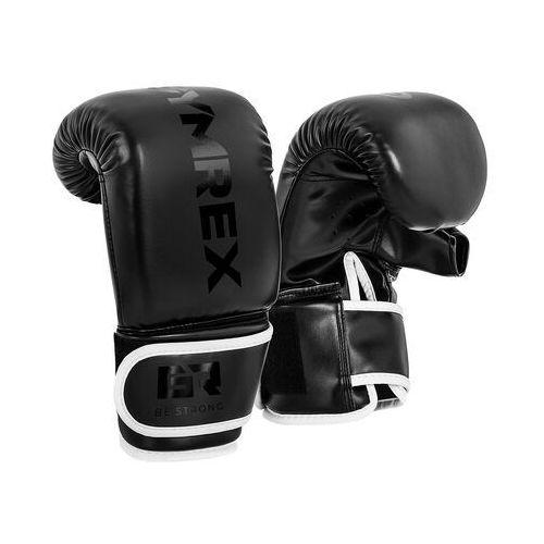 Gymrex Rękawice bokserskie do treningu na worku - 10 oz - czarne