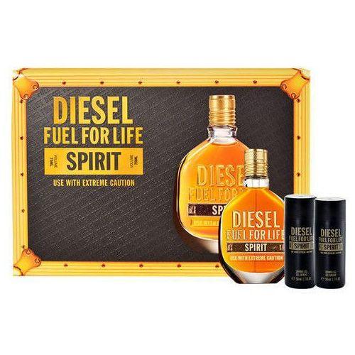 Diesel Fuel for Life Spirit M Zestaw perfum Edt 75ml + 2x50ml Żel pod prysznic, kup u jednego z partnerów
