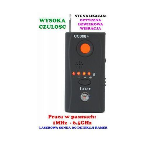 Spy electronics co. Laserowy wykrywacz podsłuchów, kamer, gsm, lokalizatorów gps... + słuchawki itd.