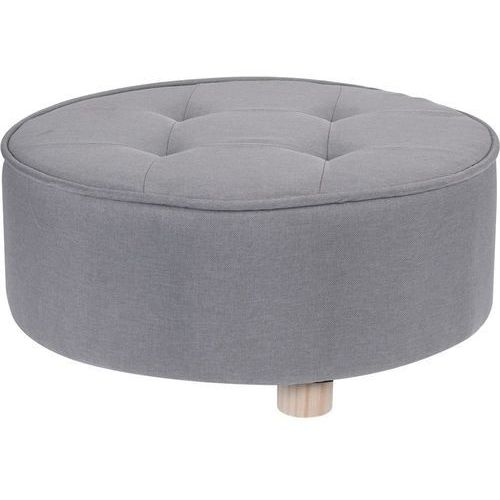 Home styling collection Pufa bawełniana, siedzisko, podnóżek, szary - 52 x 22 cm (5902973402933)