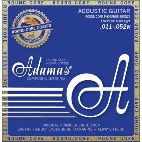 (664682) phosphor bronze nuova powlekane struny do gitary akustycznej - super light.011-.052 marki Adamas