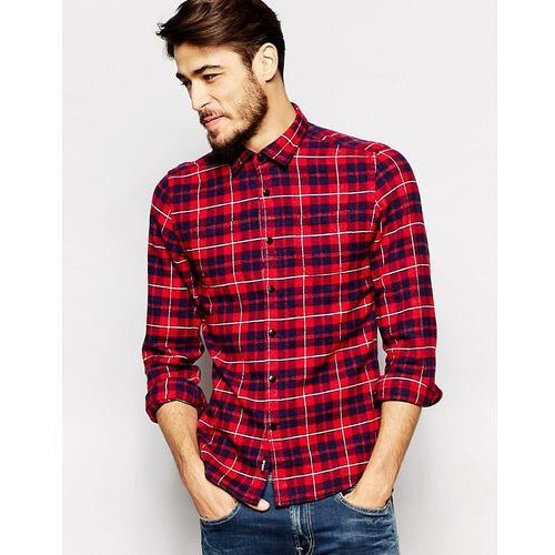 Shirt Check Flannel 2 Pocket - Red, Replay