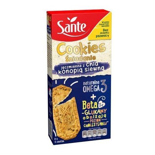Sante ciasteczka śniadaniowe cookies jęczmienne z chią i konopią 300g promocja (5900617031808)