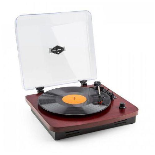 Tt370 gramofon w stylu retro z wbudowanymi głośnikami usb mp3 aux drewno wiśniowe marki Auna