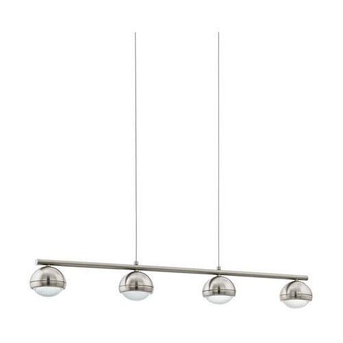 Lampa wisząca lombes 94299 metalowa oprawa listwa led 18w kula ball satyna marki Eglo