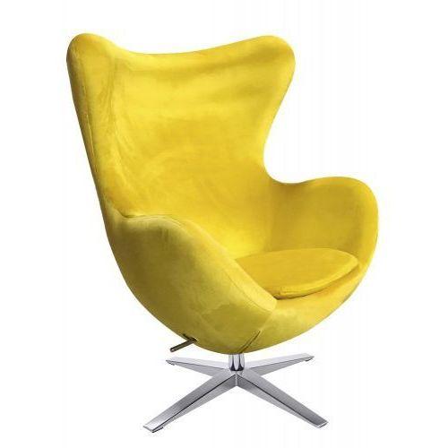 Fotel EGG SZEROKI VELVET Żółty (5900000040363)