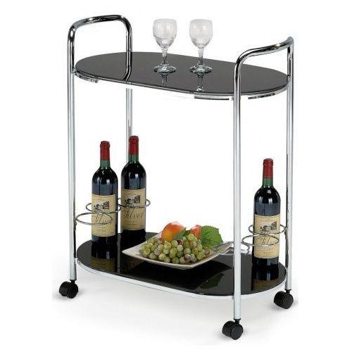 Barowy stolik na kółkach Barton - czarny, V-CH-BAR_3