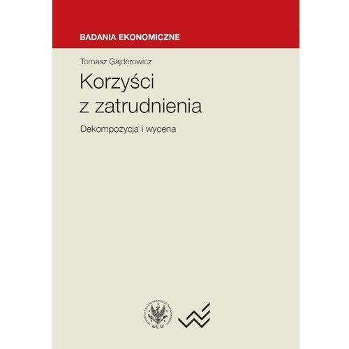 Korzyści z zatrudnienia dekompozycja i wycena - Gajderowicz Tomasz, Gajderowicz Tomasz