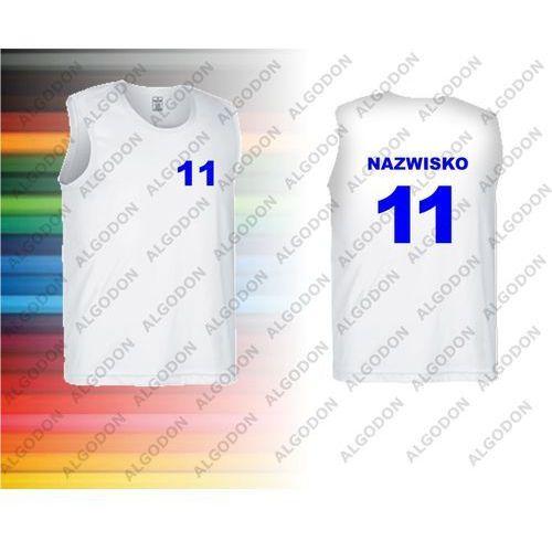 bda403946d9004 Koszulki sportowe bez rękawków oddychające z własnym nadrukiem np. zawodnika  firmy VALENTO S bialy 36,90 zł Nadruk jest robiony metodą sublimacji, ...