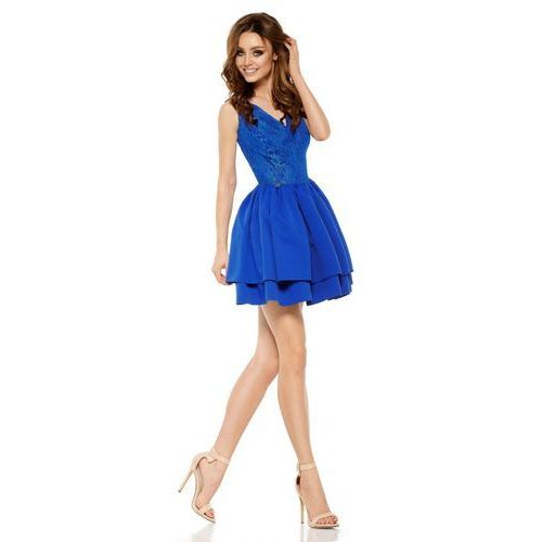 Wieczorowa sukienka mini z koronką l260 chaber marki Lemoniade