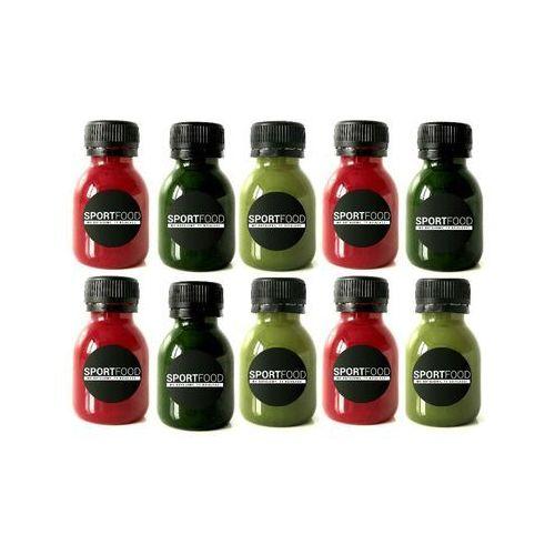 Shoty mix - 15 szotów / soki coldpress / dostawa w 24h / detoks sokowy / dieta sokowa marki Sportfood