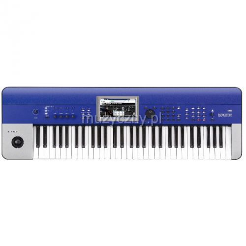 Korg krome 61 blue syntezator, workstation, kolor niebieski