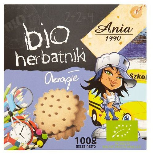 Herbatniki okrągłe BIO 100g - BIO ANIA
