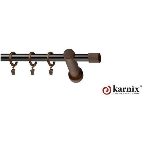 Karnix Karnisz nowoczesny mirage pojedynczy 19mm vigo mini wenge - antracyt, kategoria: karnisze