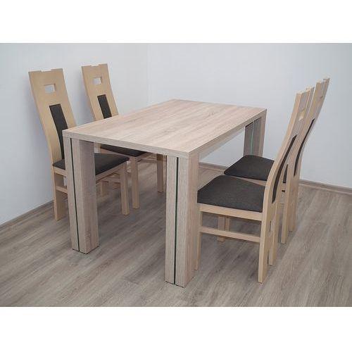 NOWOŚĆ stół S-49 80x130 do 220 plus 4 krzesła K-41bp - produkt dostępny w Sandow.com
