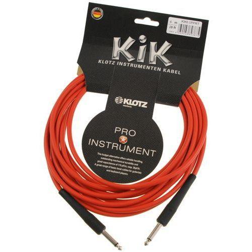 kik 6.0 pp rt kabel instrumentalny 6m, czerwony marki Klotz