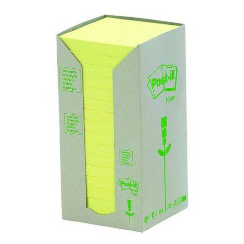 9e754189af71a9 Bloczek samop. ekologiczny POST-IT® (654-1T), 76x76mm, 16x100 kart., żółty  127,53 zł żółte karteczki, poręczne i naturalneliczba karteczek: 16x100 w  ...