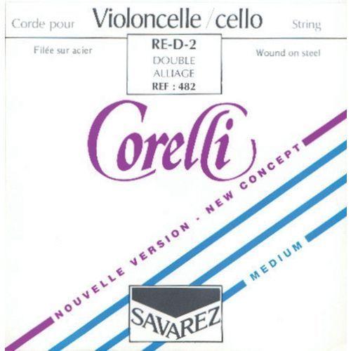 Savarez (638604) corelli struna do wiolonczeli - jelitowe - d - 482