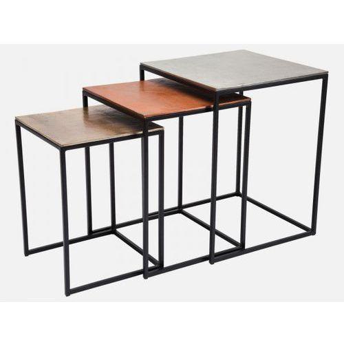 Stolik Kawowy Loft Square (3/Set) aluminiowy  78777, Kare Design z sfmeble.pl