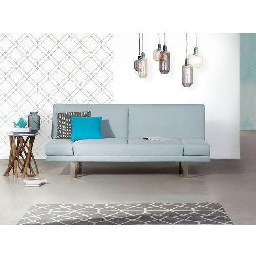 Sofa z funkcją spania jasnoniebieska - kanapa rozkładana - wersalka - YORK