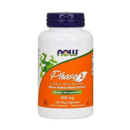 Phase 2 500mg 120 kaps.(data wazności 31/07/2019) marki Now foods, usa