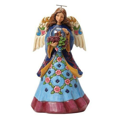 Jim shore Anioł z kulą beauty blooms from within 4047070 figurka dewocjonalia