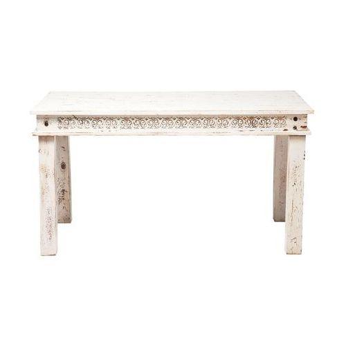 Kare Design Taberna Postarzany Stół 140x70cm Biały Drewno Mango lakierowane - 78041 - produkt dostępny w sfmeble.pl