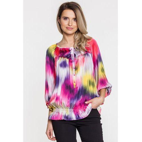 Różowa bluzka we wzory - Duet Woman, 1 rozmiar