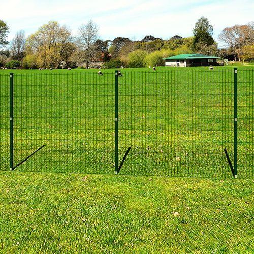 vidaXL Ogrodzenie ogrodowe panelowe ze stanowiskami 6/5/6 mm drut 163 cm długość 10 m ze sklepu VidaXL