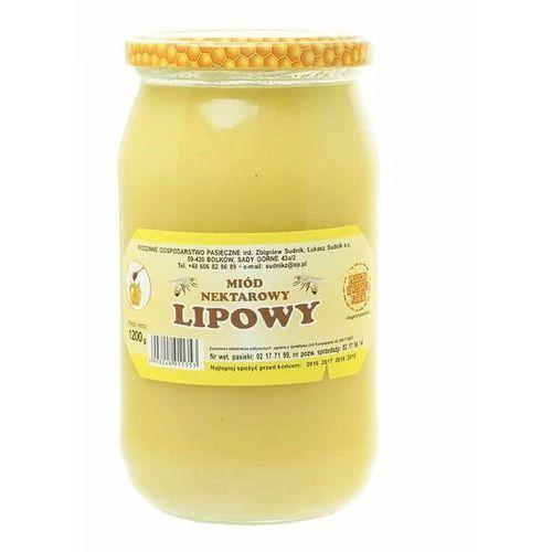 Miód lipowy nektarowy 1200g Rodzinna Pasieka Sudnik