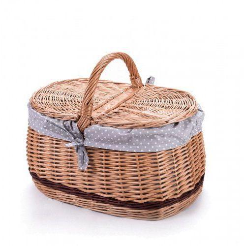 Wyroby z wikliny pph jan wnuk Wiklinowy kosz piknikowy samochodowy bagażowy, na piknik, z obszyciem