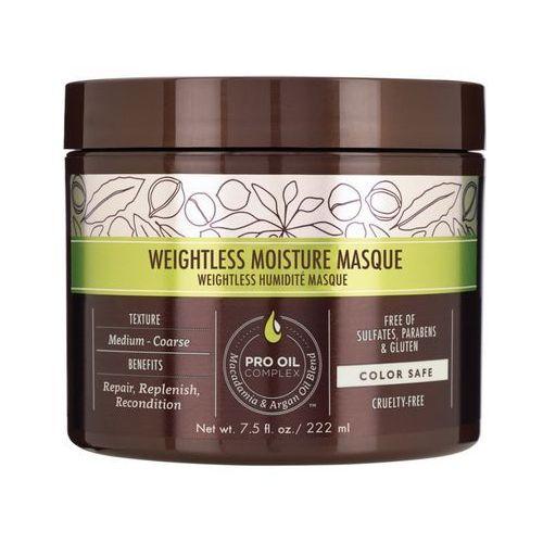 weightless moisture mask | nawilżająca maska do włosów cienkich - 222ml marki Macadamia