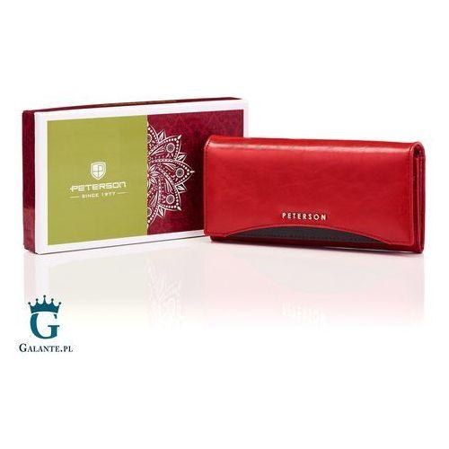 ad0f6aa57e13e Damski portfel skórzany black&red pl467-1 marki Peterson 127,20 zł firma  Peterson to lider w.
