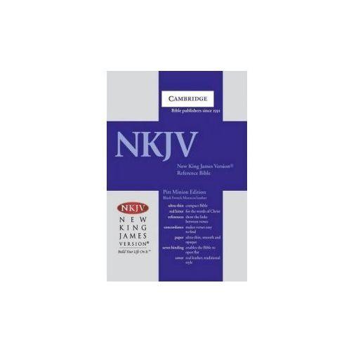 NKJV Pitt Minion Reference Bible, Black Goatskin Leather, Red-letter Text, NK446:XR