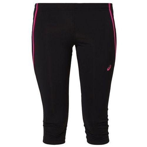 ASICS ADRENALINE Rajstopy black/ultra pink, kolor czarny