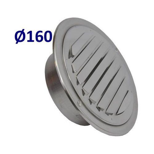 Kratka nierdzewna czerpnia wyrzutnia uela średnice od 100mm do 200mm. czerpnia do wentylacji i rekuperacji średnica [mm]: 160 marki Systerm