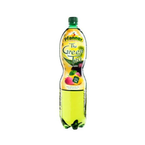 Pfanner 1,5l ice tea napój zielona herbata o smaku cytryny i liczi import