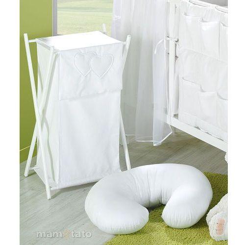 """Mamo-tato poszewka na poduszkę do karmienia """"rogal"""" serduszka w bieli"""