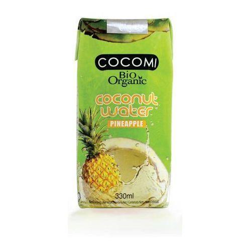 Cocomi (wody kokosowe, oleje kokosowe, śmietanki) Woda kokosowa o smaku ananasa bio 330 ml - cocomi