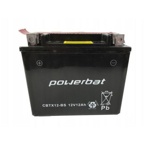 Bat Akumulator motocyklowy power cbtx12-bs / ytx12-bs 12v 10ah 180a l+