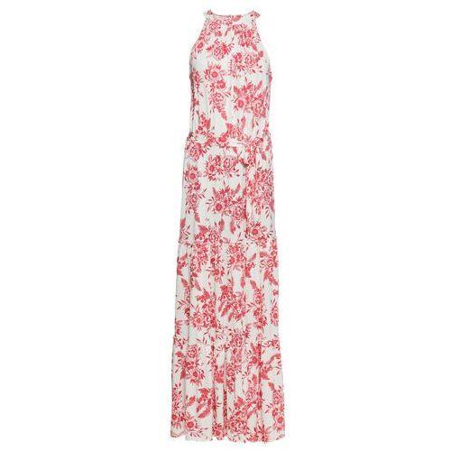 Sukienka z dżerseju bonprix z nadrukiem, kolor biały