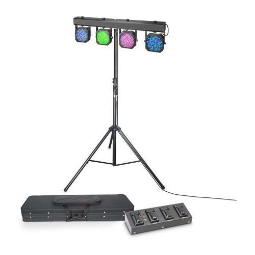 Cameo multi par 1 set - zestaw oświetleniowy 432 x 10 mm led z walizką transportową, poczwórnym pedałem i statywem