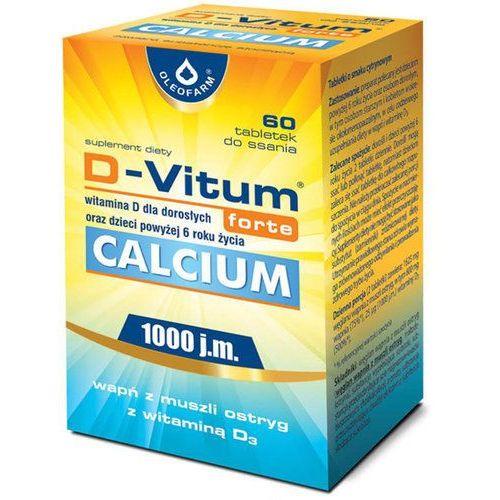 Tabletki D-Vitum Forte Calcium 1000 j.m., dla dorosłych, 60 tabletek do ssania