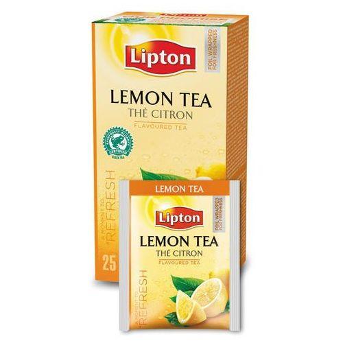 Czarna aromatyzowana herbata classic lemon 25 kopert marki Lipton