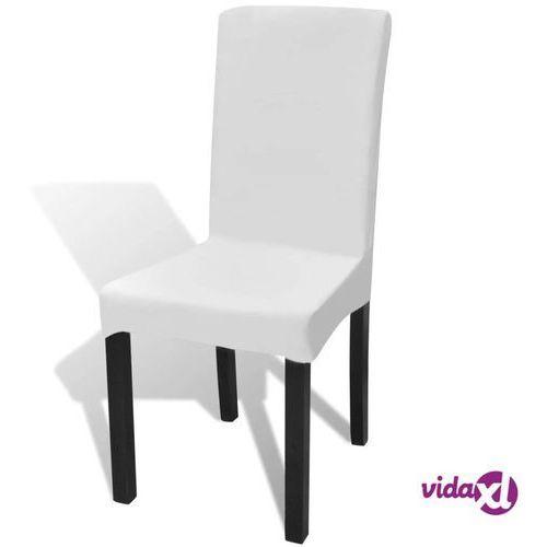 białe, rozciągliwe pokrowce na krzesła, 6 sztuk marki Vidaxl