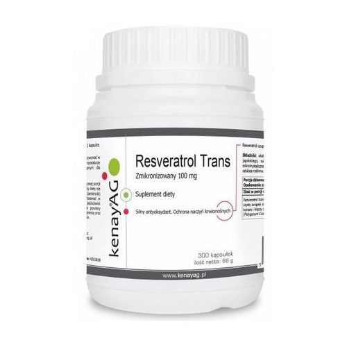 Kapsułki Resveratrol trans zmikronizowany 100 mg (300 kaps.) Kenay AG