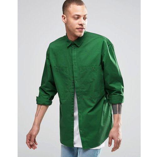 Weekday  Blood Regular Fit Shirt 2 Pocket in Green - Green, zielona