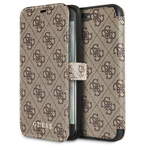 Guess Booktype 4G Charms Etui iPhone 8 Plus / 7 Plus z kieszeniami na karty (Brązowy), 10_14383