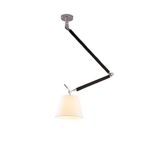 Azzardo Lampa wisząca zwis zyta m 1x60w e27 biała md2300-m wh + żarówka led za 1zł!